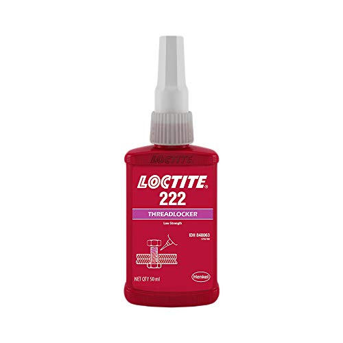 Genuine Henkel Loctite 222 Threadlocking Adhesive - Low Strength - Easy Disassembly - Suitable for All Metal Threaded Assemblies - Glue 50 ML