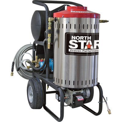 NorthStar Electric Wet Steam and Hot Water Pressure Washer - 2750 PSI, 2.5 GPM, 230 Volt