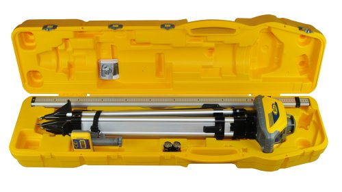Spectra Precision LL100N-2 Laser Level Kit with HR320 Receiver and Clamp, 15' Grade Rod, Tripod, and System Case , Yellow