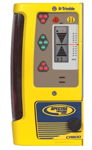Spectra Precision CR600 Combination Laser Level Receiver with Rod Clamp, Magnetic Mount, Batteries, Waterproof, Lightweight, Bright LED Indicators