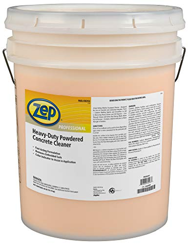 Zep Professional Heavy-Duty Powdered Concrete Cleaner, 40Lb. Bucket, Biodegradable, Dissolves Quickly and Removes Tough, Embedded Soils (R02934), Orange