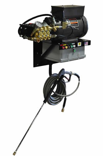 Cam Spray 4040EWMA Auto Start/Stop Wall Mount Electric Powered Cold Water Pressure Washer, 4000 psi, 50' Hose