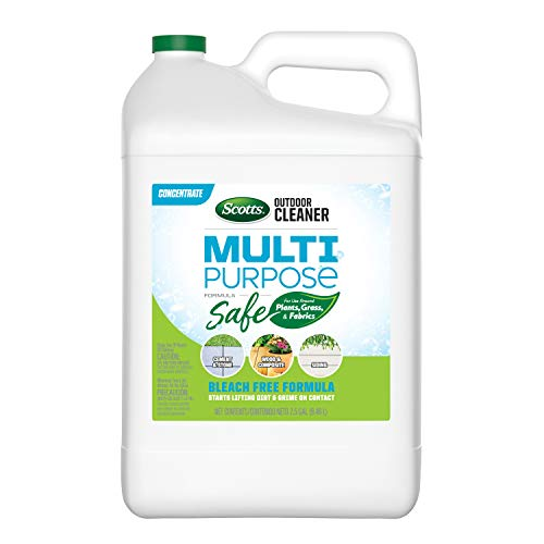 Scotts Outdoor Cleaner Multi Purpose Formula: Concentrate, Bleach-Free, Use on Decks, Siding, Stone and Patio Furniture, 2.5 gal.