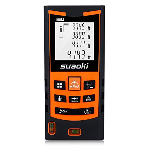 SUAOKI S9 198ft Portable Laser Distance Measure, Laser Measure with 2 Bubble Levels,Pythagorean Mode and Area, Volume Calculation and Range Finder/Digital Tape Measure