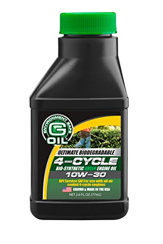 Green Earth Technologies 1126 G-OIL 4-Cycle 10W-30 Bio-Synthetic Engine Oil - 2.6 oz Bottle