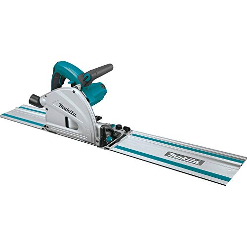 Makita SP6000J1 6-1/2' Plunge Circular Saw Kit, with Stackable Tool case and 55' Guide Rail, Blue