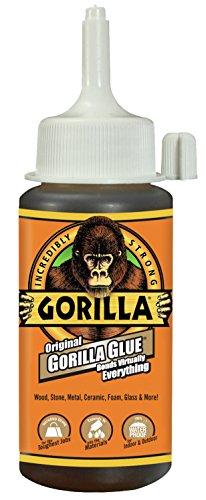 Gorilla Original Waterproof Polyurethane Glue, 4 ounce Bottle, Brown, (Pack of 1)