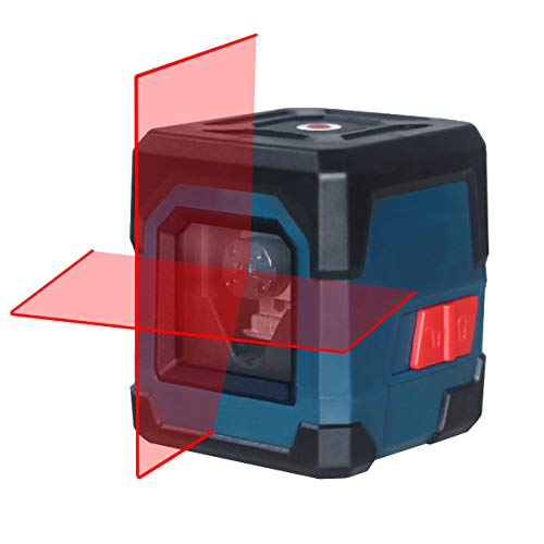 Laser Level, HANMATEK Cross Line Laser with Measuring Range 50ft, Self-Leveling Vertical and Horizontal Line, Rotatable 360 Degree, Battery Included and Carrying Pouch