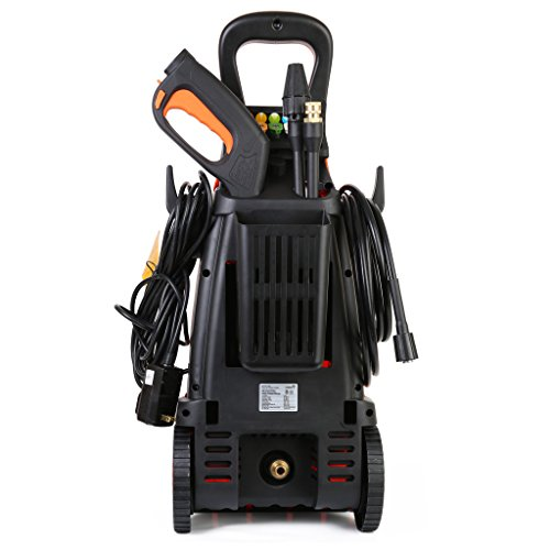 Ivation Electric Pressure Washer 2200 PSI 1.8 GPM with Power Hose Nozzle Gun and Turbo Wand, All Parts Included, W/Built in Soap Dispenser