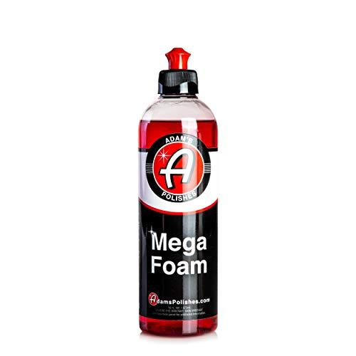 Adam's Mega Foam Car Soap - Concentrated pH Neutral Car Wash Soap | Extreme Suds In 5 Gallon Bucket Foam Cannon Pressure Washer | Foam Gun Pad Sponge Mitt Chamois | Safe On Car Wax & Ceramic Coating