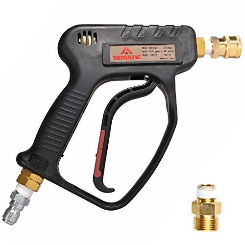 YAMATIC 5000 PSI High Pressure Washer Trigger Gun Pressure Spray Gun / 35 Mpa, 10.5 GPM, 3/8' FNPT Quick Connector& M22 Coupler