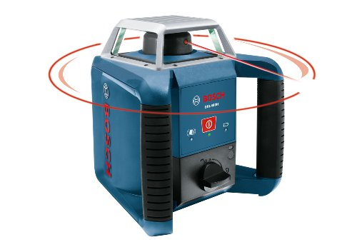BOSCH Self-Leveling Rotary Laser with Laser Receiver GRL 400 H, Blue (GRL400H)