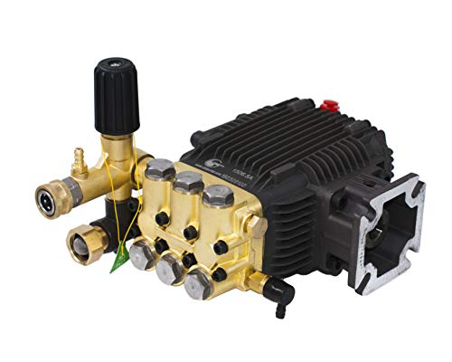CANPUMP Triplex High Pressure Power Washer Pump 3.1 GPM 3000 psi 6.5 HP 3/4' Shaft fits Cat General AR
