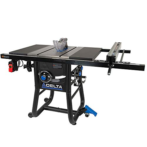 Delta 36-725T2 Contractor Table Saw with 30' Rip Capacity and Steel Extension Wing