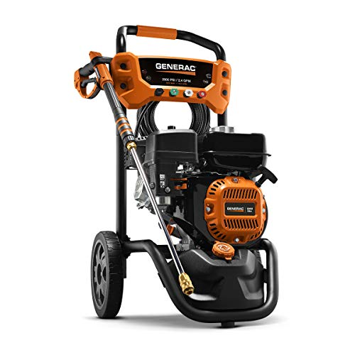 Generac 7954 Pressure Washer 2900PSI, Black, Orange