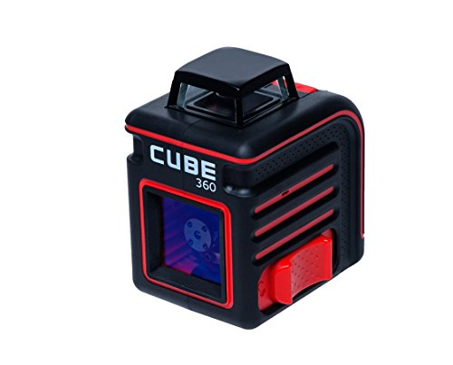 AdirPro Cube 360 Horizontal Cross Line Laser, Red/Black