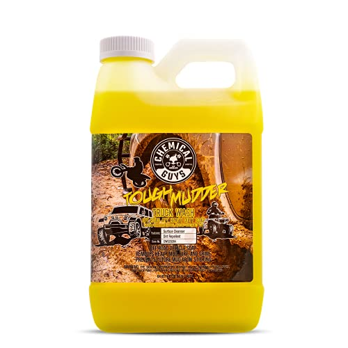 Chemical Guys CWS202 Tough Mudder Foaming Truck, Off Road and ATV Car Wash Soap (Works with Foam Cannons, Foam Guns or Bucket Washes), 1 Gallon, Lemon Scent