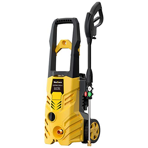 WestForce Electric Pressure Washer, 2600 PSI 1.76 GPM Car Power Washer High Pressure Washer Machine with Spray Gun, Pressure Hose and Nozzles for Vehicle, Home, Garden