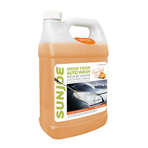 Sun Joe SPX-FCS1G-CRM Premium Snow Foam Orange-Vanilla Scent Car Wash Soap & Cleaner, 1 Gallon