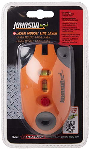 Johnson Level & Tool 9250 Laser Line Level (Mouse), orange