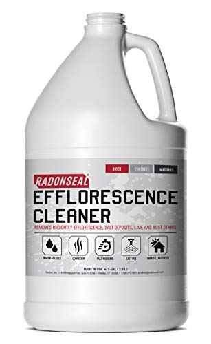 RadonSeal Efflorescence Remover - Cleans Efflorescence, Mortar Haze, Lime Deposits, and Rust Stains. No Odor, Safe for Use Indoors & Outdoors