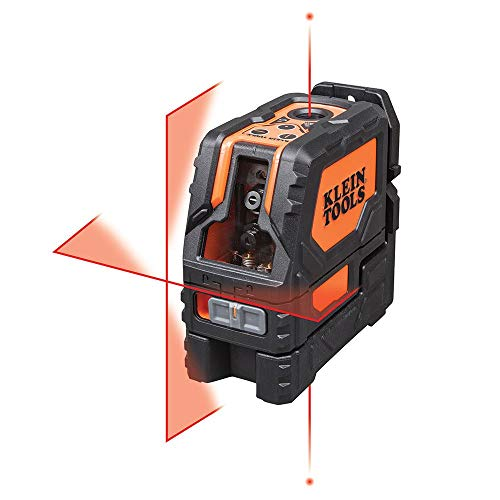 Klein Tools 93LCLS Laser Level, Cross Line Level with Plumb Spot, Leveler Tool with Magnetic Mounting Clamp, Self-Leveling