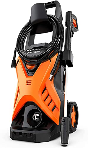 PAXCESS Electric Pressure Power Washer 2300 PSI 1.6 GPM Portable Car Washer with Adjustable Spray Nozzle, Foam Cannon, IPX5 Car Washer Cleaner for Home/Car/Driveway/Patio Furniture
