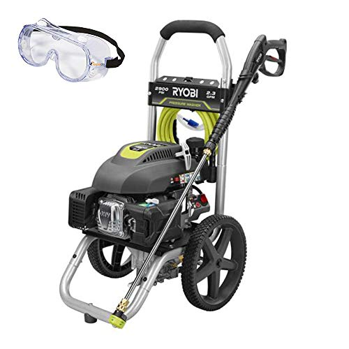 Ryobi 2,900-PSI 2.3-GPM Gas Pressure Washer RY802900 and Toucan City Safety Glasses