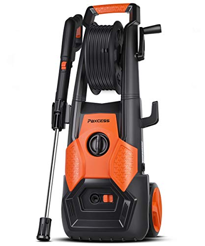 PAXCESS Electric Pressure Power Washer 2150 PSI 1.85 GPM with Spray Gun, Adjustable Nozzle, Hose Reel, Orange