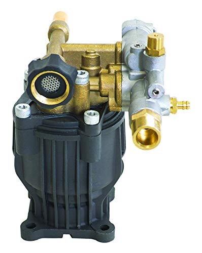 OEM Technologies 90029 Axial Cam Horizontal Pressure Replacement Pump 3100 PSI @ 2.5 GPM with Brass Head and PowerBoost Washer, Gray