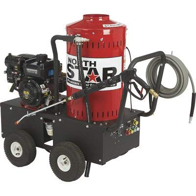 NorthStar Gas Wet Steam and Hot Water Portable Pressure Power Washer - 2700 PSI, 2.5 GPM, Briggs & Stratton Engine