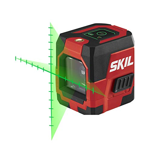 SKIL Self-Leveling Green Cross Line Laser with Projected Measuring Marks - LL932401,Red/Black