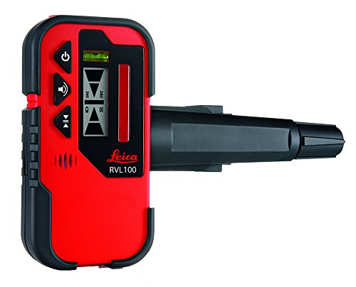 Leica RVL100 Receiver LINO Laser Receiver for Use with Line Lasers, Red/Black