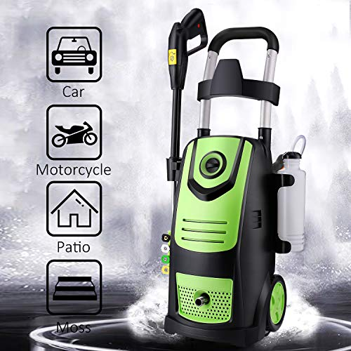 Suyncll High Power Washer Electric Pressure Washer,3800PSI 2.8GPM Pressure Washer Car Patio Garden Yard Cleaner (Green)