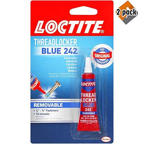 Loctite Heavy Duty Threadlocker, 0.2 oz, Blue 242, Single, 2 Pack