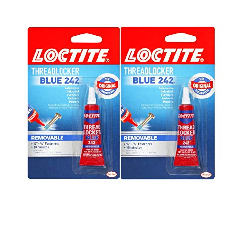 Loctite Heavy Duty Threadlocker, 0.2 oz, Blue 242, Single, 2 Pack