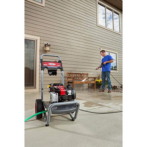 Briggs & Stratton S2200 2200 MAX PSI at 1.9 GPM Gas Pressure Washer with Easy Start Technology, 25-Foot High-Pressure Hose, and 3 Quick-Connect Nozzles