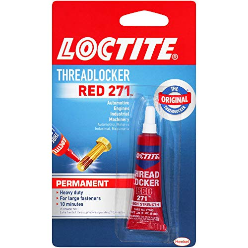 Loctite 209741 Heavy Duty Threadlocker, 0.2 oz, Red 271, 0.2