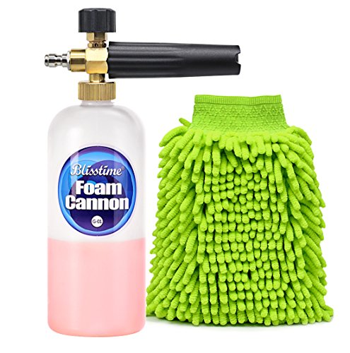 Blisstime Snow Foam Lance Car Wash Pressure Washer Jet Wash 1/4' Quick Release Adjustable Foam Cannon