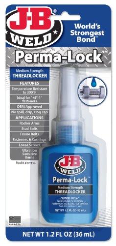 J-B Weld 24236 Perma-Lock Medium Strength Threadlocker - Blue - 36 ml