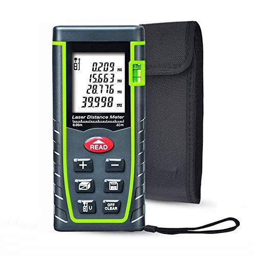 ieGeek Laser Distance Measure, 131ft Handheld M/in/Ft Laser Distance Meter Measuring Device Laser Tape Measure Rangefinder, Pythagorean Mode/Measure Area Volume Capacity/LCD Display/Self-Calibration