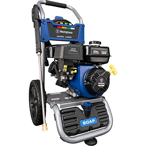 Westinghouse WPX3200 Gas Powered Pressure Washer 3200 PSI and 2.5 GPM, Soap Tank and Five Nozzle Set, CARB Compliant, WPX3200