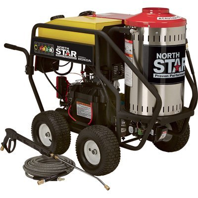 NorthStar Gas Wet Steam and Hot Water Pressure Washer - 3000 PSI, 4.0 GPM, Honda Engine