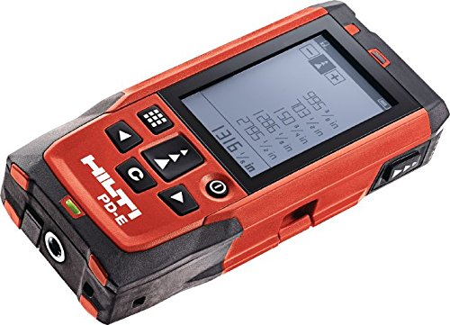 Hilti 2062051 PD-E Laser (1 mW, 635 nm, Class 2, Class II )Range Meter with Soft Case
