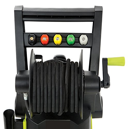 Sun Joe SPX3001 2030 PSI 1.76 GPM 14.5 AMP Electric Pressure Washer with Hose Reel, Green