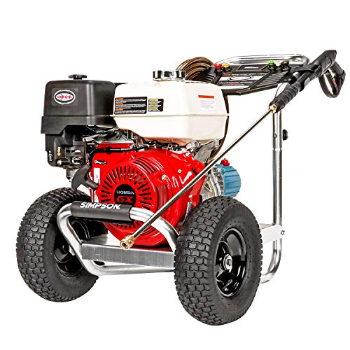 SIMPSON Cleaning ALH4240 Aluminum Series Gas Pressure Washer Powered by HONDA GX390, 4200 PSI at 4.0 GPM, (49 State), Red