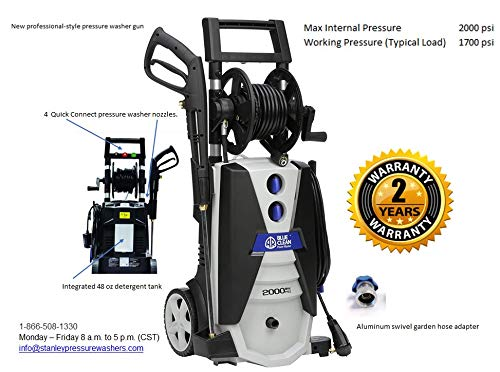 blue clean 2000 pressure washer reviews