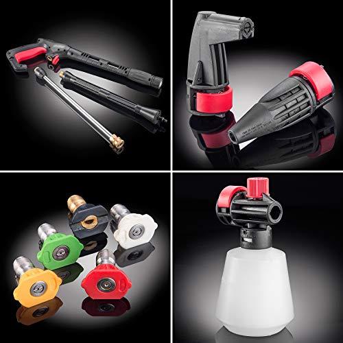 Powerhouse International - Electric High Power- Pressure Washer - 3000 PSI 2.2 GPM - Power Washer - Patio Cleaner - Hose Reel - Spray Gun (Red - Platinum Edition)