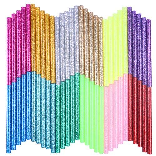 Petift Colored Glitter Hot Glue Sticks (60pcs)