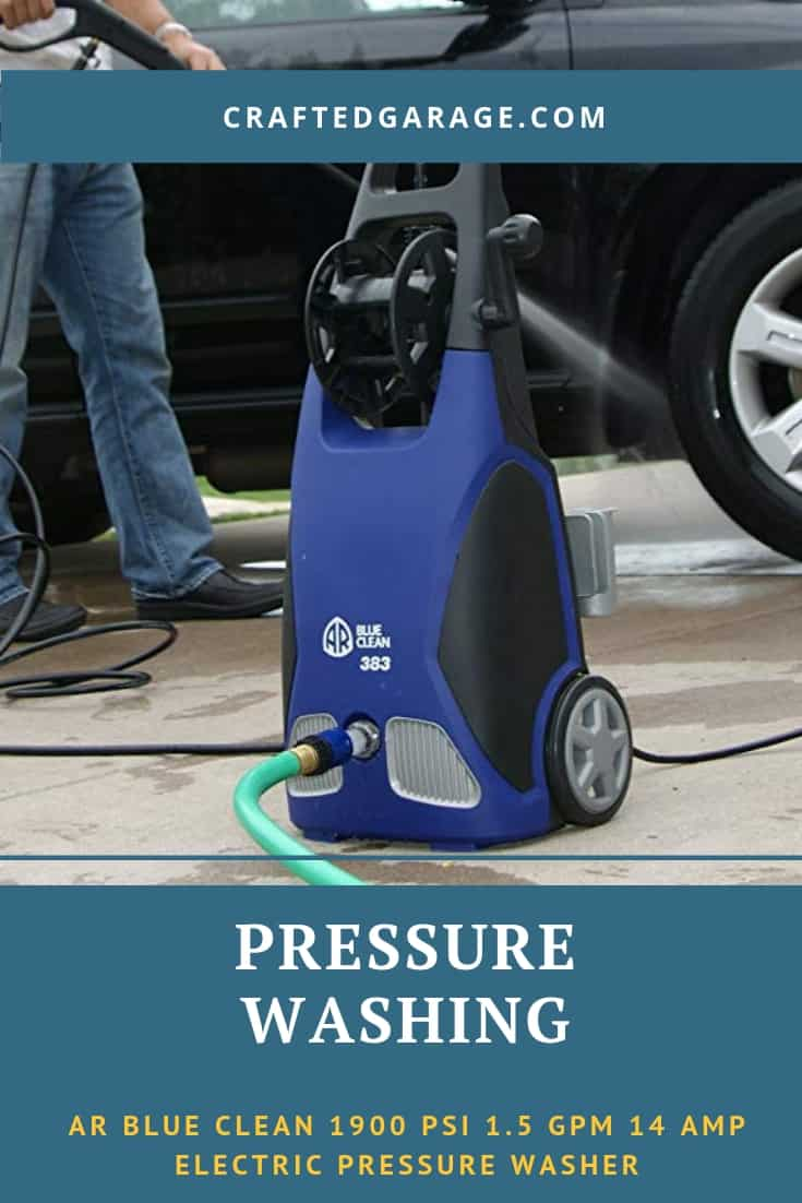 AR Blue Clean 383 1900 PSI 1.5 GPM 14 amp electric pressure washer